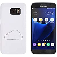 Azeeda Blanco 'Nube' Funda / Carcasa para Samsung Galaxy S7 (MC00174792)