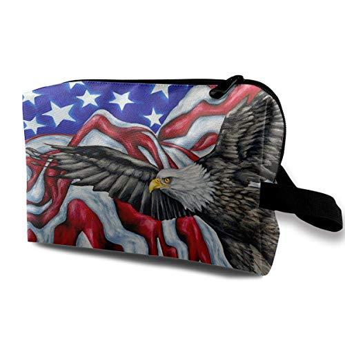 Reisen Make-up Kosmetiktasche Pinsel Beutel Die Flagge der Vereinigten Staaten und Eagle Zipper Pen Organizer - Baby Zubehör Eagle