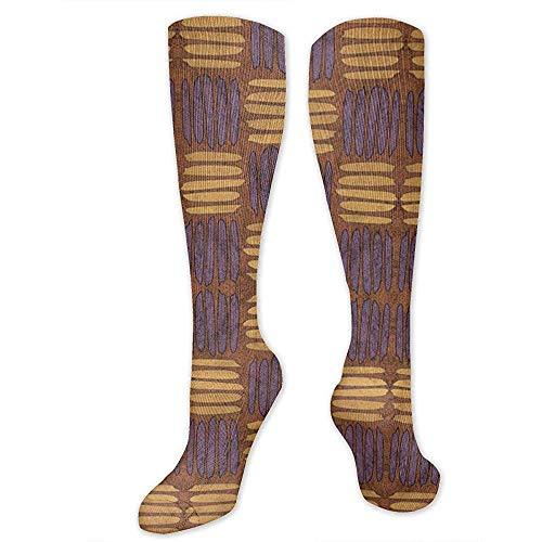 Joy Edward CheckeHatch Tissu de caramel au beurre et de lavande (3453) Chaussettes de compression pour femmes/hommes Idéal pour la course, la santé, les sports sportifs, une infirmière