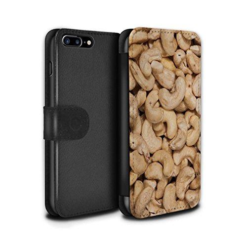 Stuff4 Coque/Etui/Housse Cuir PU Case/Cover pour Apple iPhone 7 Plus / Noix de cajou Design / Casse-Croûte Collection Noix de cajou