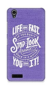 AMEZ life moves pretty fast Back Cover For Lenovo A3900