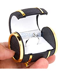 ELECTROPRIME Novelty Beer Barrel Velvet Lined Ring Earring Jewelry Display Gift Box Case Xmas
