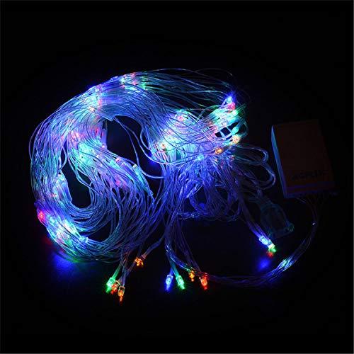 BABIFIS LED Fischnetz Licht 2 * 2 Mt Wasserfall Licht Im Freien Wasserdichte Weihnachtsdekoration Pfauenetz Licht, Multicolor (Weihnachten Wasserfall Lichter)