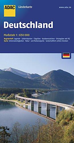 ADAC Länderkarte Deutschland 1:650.000 (ADAC Länderkarten)