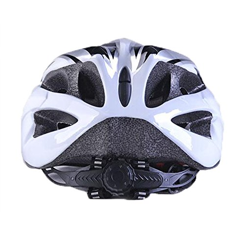 Uzexon Erwachsene Unisex Helme mit 18 Belüftungsöffnungen,Abnehmbarer Visier,Einstellbares Radsystem und Ein weicher Mesh-Liner für Fahrradhelme (Weiß&Schwarz) - 3