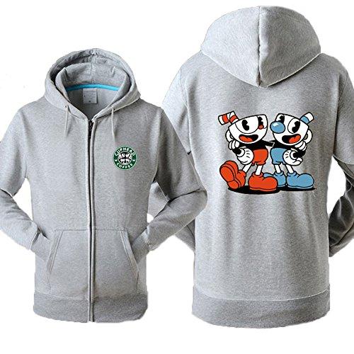 Evere Spiel Inspiriert Kapuzenpullover Zip Jacke Teetasse Kostüm Cosplay Sweatshirt Mantel Erwachsene Frühling Herbst Kleidung