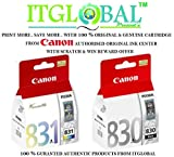 #10: Canon PG 830 and CL 831 ink Cartridge Combo [Set of 2] for PIXMA MP145 MP198 MP228 MP476 MX308 MX318 iP1880 iP1980 iP2580 iP2680 Printer (Black & Colour) With Scratch & Win Reward Offer From ITGlobal