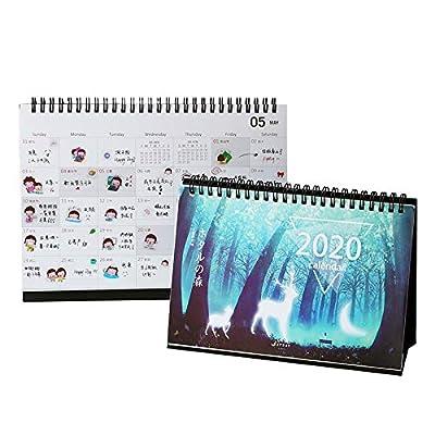 Pequeño Calendario Nuevo Calendario Calendario 2019 Mujer Escritorio Creativo Literario Y Lunar Plan De Calendario de 4290253031