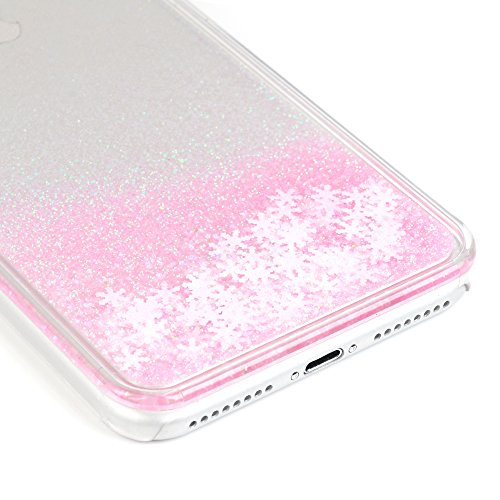 """YOKIRIN Hardcase Schutzhülle für iPhone 7 Plus (5.5"""") Schnee Treibsand Case Cover Hartschale Handyhülle Tasche Skin Schale PC Backplane Handytasche Etui Pink Pink"""