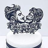 Topper para pastel de boda de día de muertos para el mismo sexo homosexuales