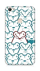 Amez designer printed 3d premium high quality back case cover for Vivo X6 (Picture bear emotions blue red)
