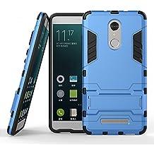 Funda para Xiaomi Redmi Note 3 / Redmi Note 3 Pro (5,5 Pulgadas) 2 en 1 Híbrida Rugged Armor Case Choque Absorción Protección Dual Layer Bumper Carcasa con pata de Cabra (Azul)