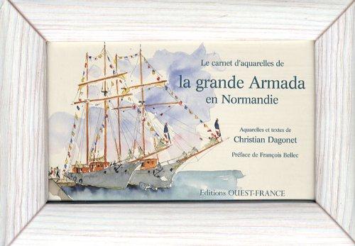 Le carnet d'aquarelles de la grande Armada en Normandie