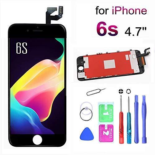 euskDE LCD Touchscreen Für iPhone 6S Display Ersatz Bildschirm Front Komplettes Glas mit Werkzeuge Für iPhone 6S Schwarz 4.7