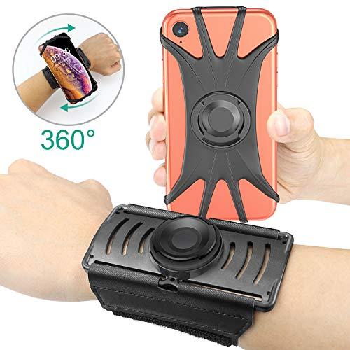 """Cocoda Sportarmband, 360° Drehbare Abnehmbare Magnetische Handyhalterung fürs Unterarm, Sport Armband Kompatibel mit dem iPhone XS Max/XR/X/8, Galaxy S10/S10e/S9 Plus und Allen 4\""""-6,5\"""" Smartphones"""