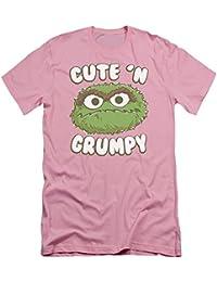 Sesame Street Classic TV Show Oscar Cute 'N Grumpy Adult Slim T-Shirt Tee