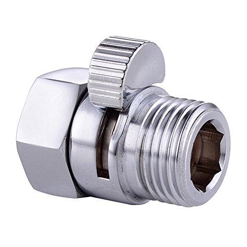 KES Duschkopf Absperrventil, Massives Messing, Chrom poliert, KES-K1140B-CH (Duschkopf Messing Poliert)