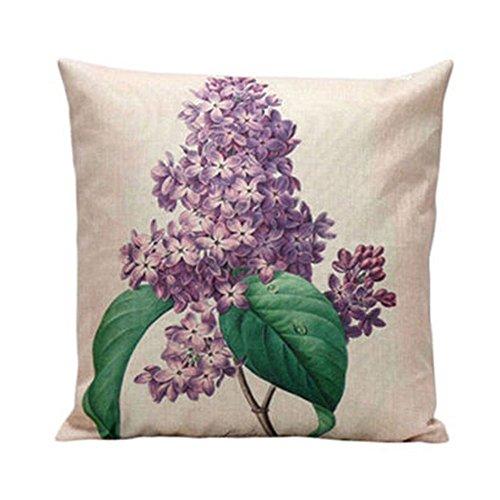 bodhi2000® Quadratisch Zweige dekorativer Überwurf-Kissenbezug Home Sofa Bett