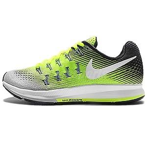 Nike Women's Wmns Air Zoom Pegasus 33 Running Shoes, Yellow (Matte Silver/Volt/Black/White), 6.5 UK (40.5 EU)