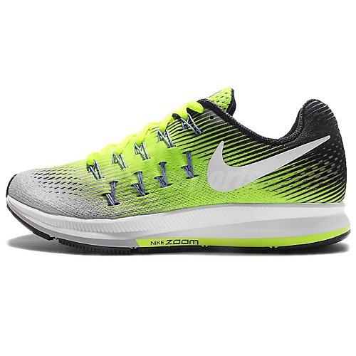 Nike Wmns Air Zoom Pegasus 33, Entraînement de course femme Jaune (Matte Silver/volt/black/white)