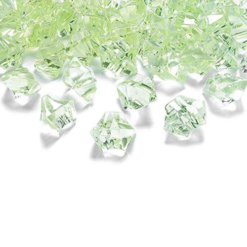 50 Kristall-Steine Hellgrün 25 mm – Eis Deko Streudeko Diamanten Tischdeko