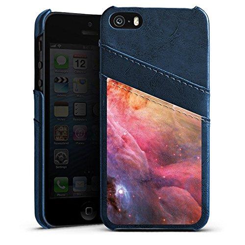 Apple iPhone 4 Housse Étui Silicone Coque Protection Galaxie Espace LL Ori et le brouillard Orion Étui en cuir bleu marine