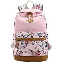 Arin Filles Garçons adolescents Toile sac de randonnée de sac d'école Sac à dos multi-fonction - Voyages, scolaire, loisirs