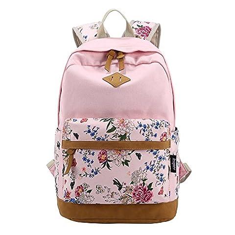 Moollyfox Filles Garçons adolescents Rosé Toile sac de randonnée de