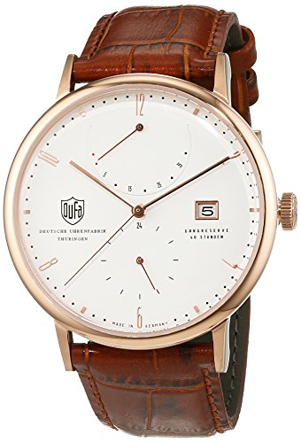 Dufa Deutsche Uhrenfabrik Unisex Analog Quarz Uhr mit Leder Armband Albers DF-9010-04 Automatik