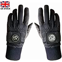 Jeantet Sport Winter Golf Gloves Men With Ball Marker Grip Performance Value Pair, Glove Durable Cold Weather Windproof Waterproof Fit Size M ML Large XL