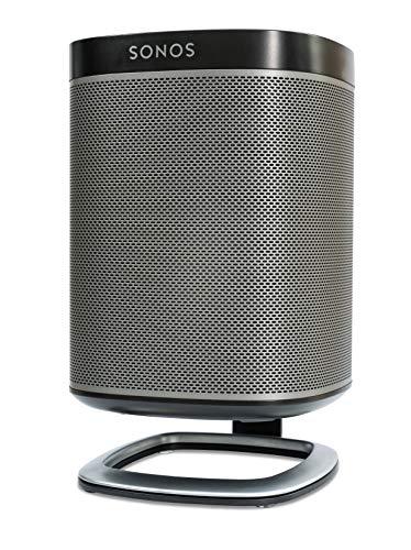 Flexson supporto da scrivania per diffusore sonos play:1 singolo, nero