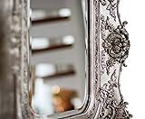 Spiegel 65x72cm Wandspiegel silberfarben Verzierungen Rosen antik Stil mirror - 6