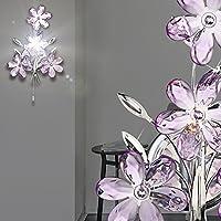 MIA Antike Wandleuchte 2-flammig mit Blumen aus Harz in silber