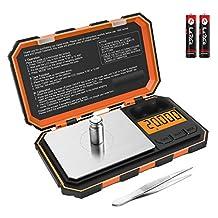 Brifit Digitale Zakweegschaal, 20g / 0,001g Milligramschaal, Draagbare Mini Weegschaal met Kalibratiegewichten Pincet, Hoge Precisieweegschaal, Tarra en PCS Functies (Inclusief Batterij)