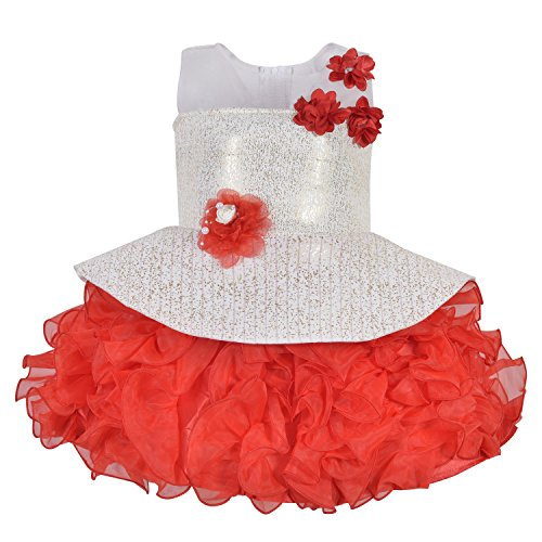 Wish Karo Baby Girls Party Wear Frock Dress DN (4-5 Years)