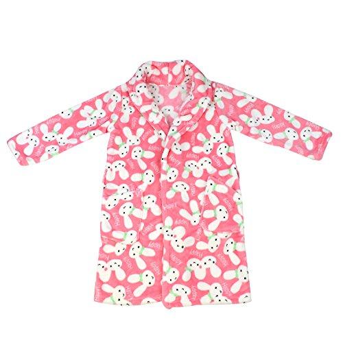 Fille Peignoir Pyjama Enfants Chemise de Nuit Robe de Chambre Vêtements de Nuit 10-12ans Rose Lapin