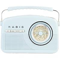 Akai A60010BLDAB Retro DAB Radio Alarm Clock with LCD Display and Backlight - Blue - ukpricecomparsion.eu