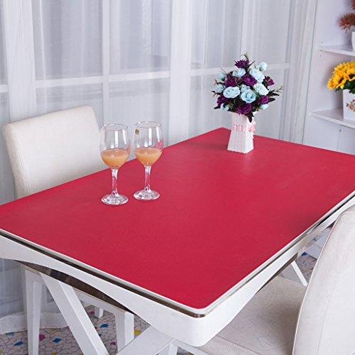 Küche Tischdecke PVC Tischdecke, Schreibtisch Mats Büro Schreibtisch Mats Computer Tisch MATS Business Case Schreibtisch Mats Operator Station 2,8mm Tischdecke (Farbe: rot, Größe: 85* 135cm) (Stickerei-overlay)