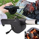 Forfar 1Pcs Barbecue portatile per barbecue Soffietto elettrico alimentato ad aria Regalo di cottura in campeggio