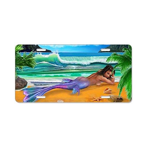 CafePress-Enchanted Mermaid-Aluminium Nummernschild, vorne Nummernschild, Vanity Tag