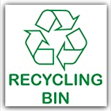 Recycling Bin-Adhesive Sticker-Recycle Logo Sign-Environment Label