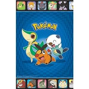 Amscan 229348 Pokemon anniversaire Nappe en plastique bleu