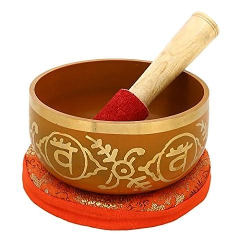 2e Chakra Swadhistana Ou sacral orange bouddhistes Bol chantant pour