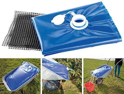 AGT Wassersack: Wasserbehälter für die Schubkarre, 80 Liter (Faltkanister für Schubkarre)