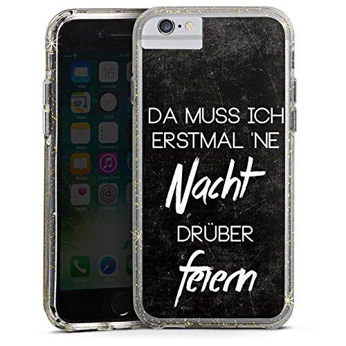Apple iPhone 6s Bumper Hülle Bumper Case Glitzer Hülle Nacht Feiern Party Bumper Case Glitzer gold