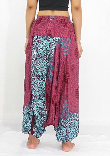 NaLuck - Pantalon de sport - Femme Rouge - PH12-Crimson