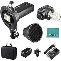 Godox AD200 Pocket Blitz Blitzlicht Flash Portable Mini TTL Speedlite mit 2 Lichtköpfen GN52 GN60 1 / 8000s HSS Eingebautes 2.4G Wireless X System 200W Starke Stromversorgung für Nikon Sony Canon EOS