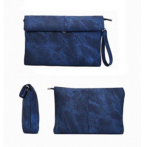 5 Borsa Da Sera Con Pochette Tutte Da Donna Vintage (grigio) Blu Scuro