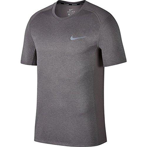 Nike Herren T-Shirt Dry Miler, Gunsmoke/Htr, M, 833591