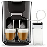 Philips Senseo HD6574/50 Latte Duo Kaffeepadmaschine  titanium
